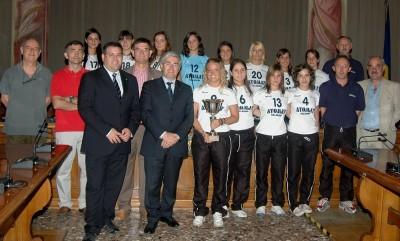 La delegazione Atomat Cus Udine al ricevimento presso la Provincia di Udine con il Presidente Fontanini
