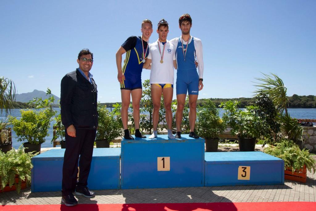 Il podio con il secondo posto di Federico Parma