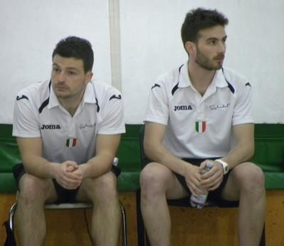 Mister Alessandro Barile (a destra) ed il vice Stefano Tomasino