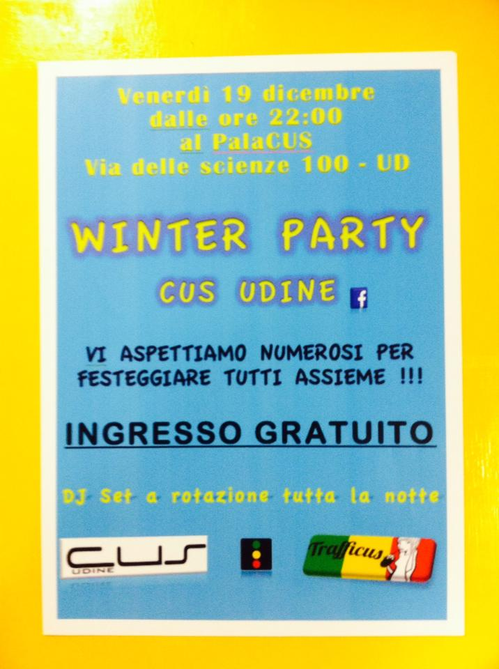 cus udine winter party