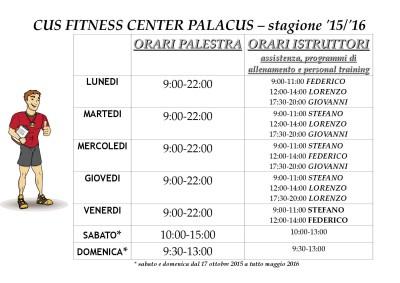 orari e personal training cfc palacus 1516