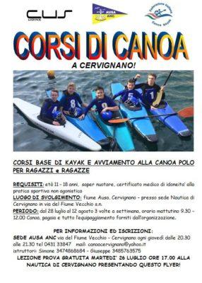 corsi canoa 2016